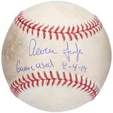 """""""Aaron Judge New York Yankees Autographed Game-Used Baseball vs. Boston Red Sox on August 4 2019 - JC002982 with """"""""GAME USED 8-4-19"""""""" Inscription"""""""