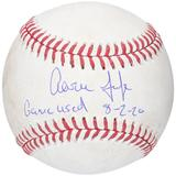 """""""Aaron Judge New York Yankees Autographed Game-Used Baseball vs. Boston Red Sox on August 2 2020 with """"""""GAME USED 8-2-20"""""""" Inscription"""""""