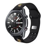 """Black Minnesota Vikings 20mm Samsung Compatible Watch Band"""