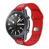 Red Washington Nationals 20mm Samsung Compatible Watch Band