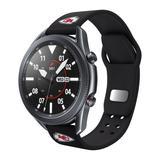 Black Kansas City Chiefs 20mm Samsung Compatible Watch Band