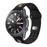 Black Minnesota Vikings 20mm Samsung Compatible Watch Band