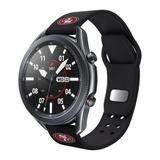 Black San Francisco 49ers 20mm Samsung Compatible Watch Band