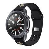 Black New Orleans Saints 20mm Samsung Compatible Watch Band