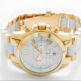 Michael Kors Accessories | Bradshaw Chronograph White Dial Two-Tone Watch | Color: Gold/White | Size: 43mm