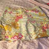 J. Crew Skirts | Floral Print Skirt Size 12 J Crew | Color: Gold/Yellow | Size: 12