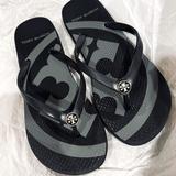 Tory Burch Shoes | Euc* Tory Burch Flip Flops | Color: Black/Gray | Size: 5
