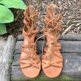 Anthropologie Shoes | Anthropologie Corso Como Jamaica Sandals 6.5 | Color: Brown | Size: 6.5