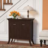 Charlton Home® Clermont 2 - Door Accent Cabinet Wood in Brown, Size 30.0 H x 30.0 W x 13.0 D in | Wayfair CHRL5277 40055937