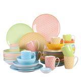 Latitude Run® Dalaine 48-Piece Dinnerware Set (Service For 8) Porcelain/Ceramic in Blue/Green/Orange | Wayfair 098FF938005E432B98C4D4A70E7B6AE6