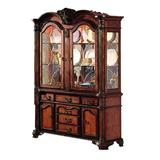 Bloomsbury Market Aiki Lighted China Cabinet in Green, Size 88.0 H x 61.0 W x 21.0 D in | Wayfair 8CAF00FF388348C7AA4E243FEEF103D9