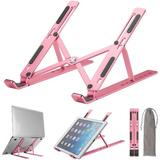 ZWISSLIV Laptop Stand, Adjustable, Aluminum Portable Foldable Laptop Holder, Ventilated Cooling Notebook Stand Holder Compatible w/ Macbook Air Pro