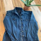 American Eagle Outfitters Tops   American Eagle Denim Shirt   Color: Blue   Size: S