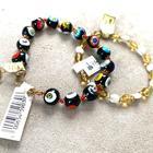 Disney Jewelry   Disney Parksmurano Glass Beaded Bracelets Nwt   Color: Black/Gold   Size: Os