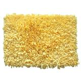 """Bella Premium Jersey Shaggy Area Rug by Home Weavers Inc in Yellow (Size 24"""" X 36"""")"""