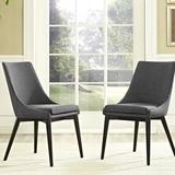Wade Logan® Minton Side Chair Wood/Upholstered/Fabric in Gray, Size 19.0 W x 23.5 D in | Wayfair 83E27B32D61441A284D3EB91188024AA