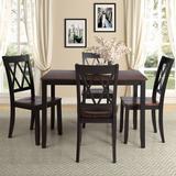 Red Barrel Studio® 5 Piece Dining Set Wood/Metal in Black, Size 30.1 H x 45.47 W x 29.52 D in | Wayfair 85111DE26A0749AE9BD94C8E96ED932D