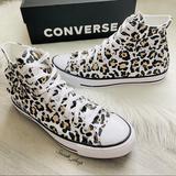 Converse Shoes | Nwt Converse Chuck 70 High Leopard Print Womens | Color: Black/White | Size: 9.5