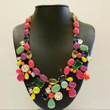 J. Crew Jewelry | J Crew Eye Candy Statement Necklace Retail $165 | Color: Gold | Size: Os