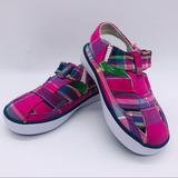 Polo By Ralph Lauren Shoes | Polo Ralph Lauren - Baby Girls Mary Jane Sneakers | Color: Green/Pink | Size: 4.5bb