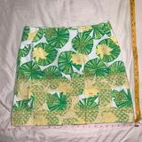 Lilly Pulitzer Skirts   Lilly Pulitzer Skirt Frogs Leaves Hip Hop Hooray   Color: Green/Yellow   Size: 6