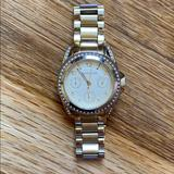 Michael Kors Accessories | Michael Kors Ritz Stainless Steel Gold Watch | Color: Gold/Tan | Size: Os