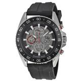 Michael Kors Accessories | Mk Men'S Jetmaster Automatic Black Silicone Watch | Color: Black/Silver | Size: Os