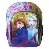 Disney Accessories | Disney Frozen 2 Elsa Anna School Bag Backpack 16 | Color: Blue/Purple | Size: Osg