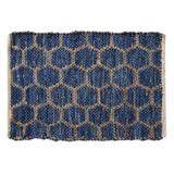 """Beehive Modern Collection Area Rug by Home Weavers Inc in Blue (Size 24"""" X 36"""")"""