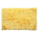 """Bella Premium Jersey Shaggy Area Rug by Home Weavers Inc in Yellow (Size 42"""" X 66"""")"""
