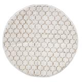 """Beehive Modern Collection Area Rug Round by Home Weavers Inc in White (Size 57"""" ROUND)"""