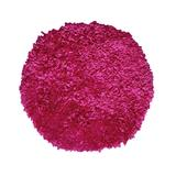 """Bella Premium Jersey Shaggy Round Area Rug by Home Weavers Inc in Hot Pink (Size 60"""" ROUND)"""