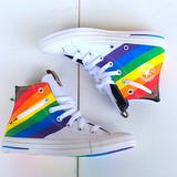 Converse Shoes   Converse Unisex Chuck Taylor All Star Pride High   Color: White/Yellow   Size: 6