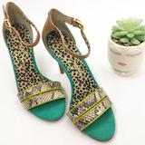 Jessica Simpson Shoes   Jessica Simpson Fashion Heels Size 6   Color: Brown/Green   Size: 6