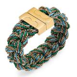 Tory Burch Jewelry | New Tory Burch Nantucket Gemini Link Bracelet | Color: Gold/Green | Size: Os
