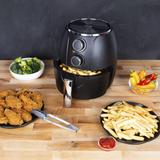 Kalorik 3 Quart Mechanical Air Fryer, Matte Black by Kalorik in Black