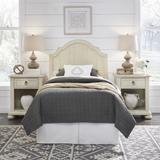 Provence White Twn Headboard & 2 Night Stands by Homestyles in White