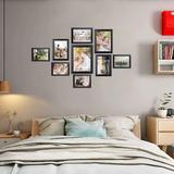 SpicyMedia 12 Pcs Picture Frames, Picture Frames Set, Picture Frame Collage, Gallery Wall Frame Set, Photo Frames For Tabletop & Home Decor in Black