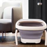 BESTBUY Foldable Foot Spa Bath Motorized Massager 110V w/ Red Light Bubble Stress Relief in Gray/White | Wayfair 11690