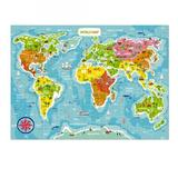 STP Goods DODO World Map Puzzle - 100 Pieces, Size 4.0 H x 1.0 W x 9.0 D in | Wayfair 194489
