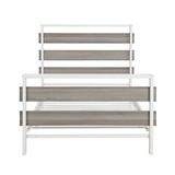 Garza Twin Platform Bed by Mason & Marbles Wood/Metal in Gray/White, Size 39.0 H x 41.0 W x 78.0 D in | Wayfair 9824476A05984D18835F88E34105D86F