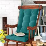 Andover Mills™ Indoor Rocking Chair Cushion Polyester/Polyester blend in Blue, Size 3.0 H x 17.0 W x 21.0 D in | Wayfair