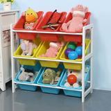 Isabelle & Max™ Solid Wood Toy Rack Kids' Toy Storage Organizer Children Finishing Storage Rack in White, Size 25.2 H x 11.0 W x 23.6 D in | Wayfair