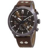 Skyfinder Chronograph Quartz Brown Dial Watch - Brown - Philip Stein Watches