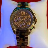 Michael Kors Accessories | Michael Kors Bradshaw Chronograph Watch | Color: Brown/Gold | Size: Os