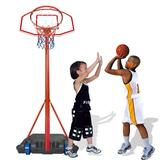 RUOLANYUE Height-Adjustable Basketball Hoop Backboard System Stand & Base Wheels, Size 93.0 H x 29.0 W x 22.0 D in | Wayfair I01KHH200603543_jhu