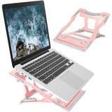 ZWISSLIV Laptop Stand, Ergonomic Aluminum Computer Laptop Holder Riser in Pink, Size 5.9 H x 8.66 W x 10.23 D in | Wayfair CQP3B08LK4S8JQ