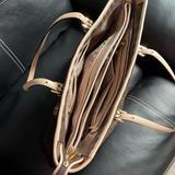 Michael Kors Bags | Brown Shoulder Bag, A Laptop Fits Inside. | Color: Brown/Cream | Size: Os