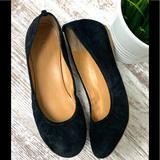 J. Crew Shoes | J. Crew Black Suede Ballet Flats Slip On Shoes 7 | Color: Black | Size: 7