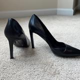 Nine West Shoes | Nine West Leather Black Sexy Heel | Color: Black | Size: 8